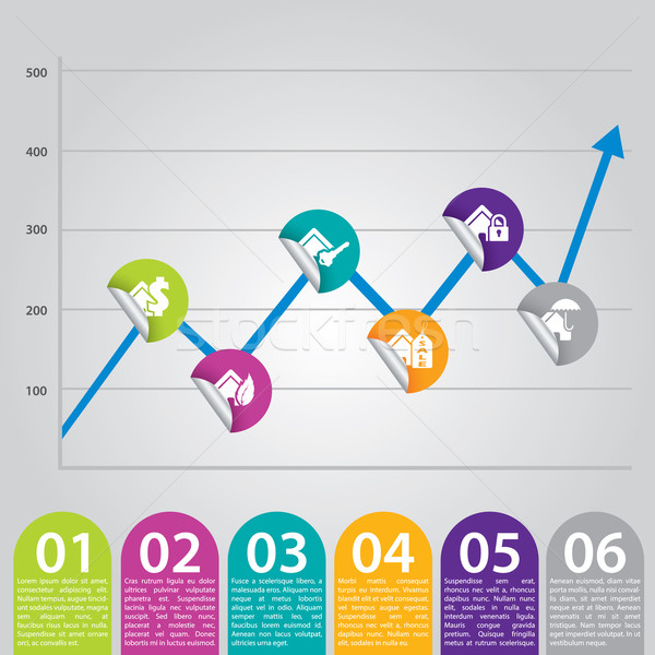 Infographic chart ideal for advertisements Stock photo © vipervxw