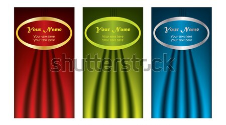 Waved business card set  Stock photo © vipervxw