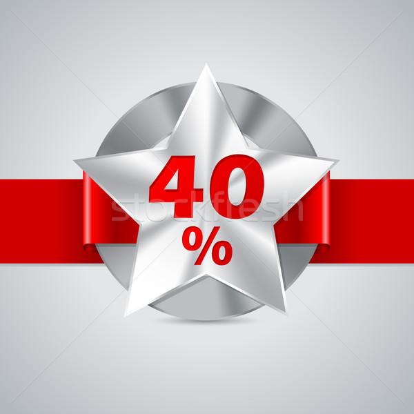 40 r duction badge star illustration vectorielle mihaly pal fazakas vipervxw. Black Bedroom Furniture Sets. Home Design Ideas