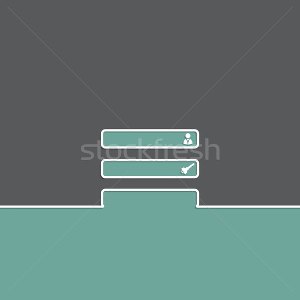 Simple login background design Stock photo © vipervxw