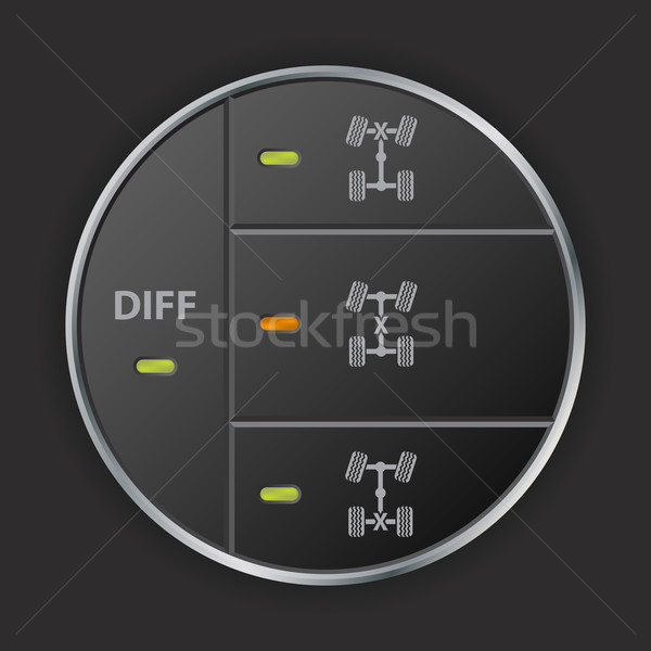 Simple but functional off road control panel Stock photo © vipervxw