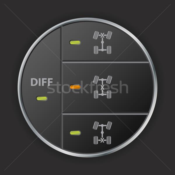 Simples estrada painel de controle diferencial projeto Foto stock © vipervxw