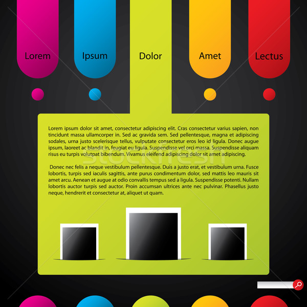 Colorful website template Stock photo © vipervxw
