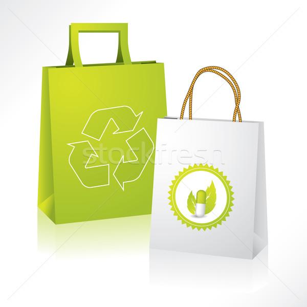 Bio and eco paperbags Stock photo © vipervxw