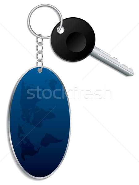 World map keyholder with key  Stock photo © vipervxw
