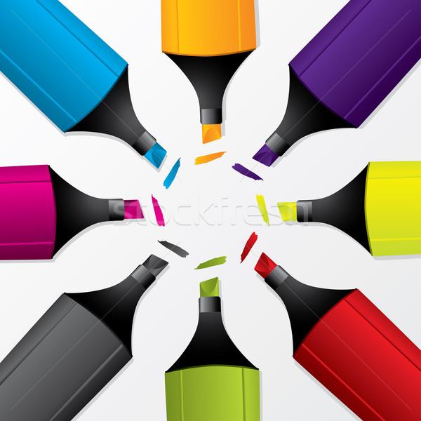 Coloré blanche bureau design Photo stock © vipervxw