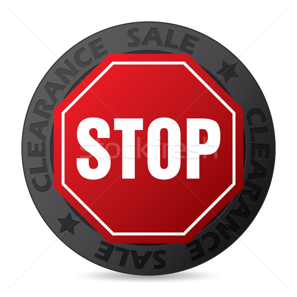Cool badge with stop sign Stock photo © vipervxw