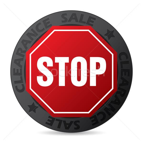 Stock fotó: Hideg · kitűző · stoptábla · kiárusítás · bolt · hát