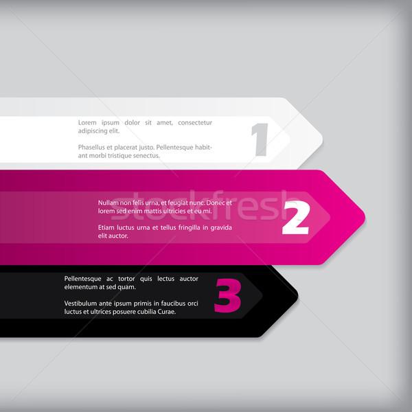 Arrow shaped label set Stock photo © vipervxw