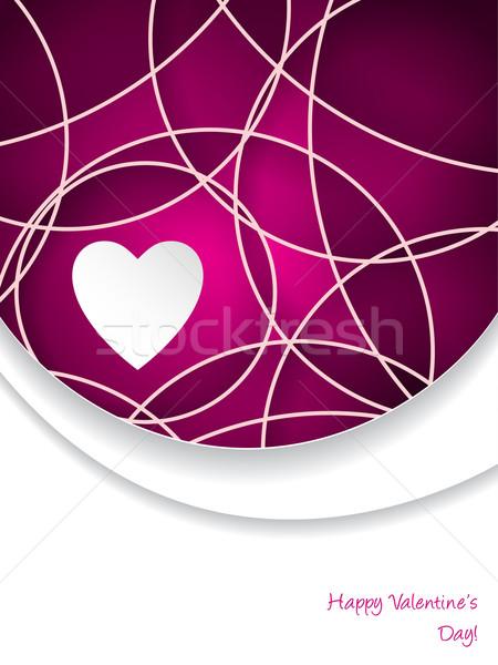 Walentynki kartkę z życzeniami różowy tekst streszczenie papieru Zdjęcia stock © vipervxw