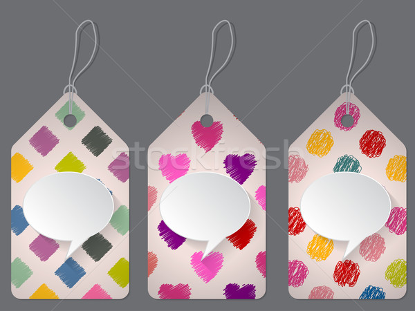 Colorful discount labels with scribbled elements Stock photo © vipervxw