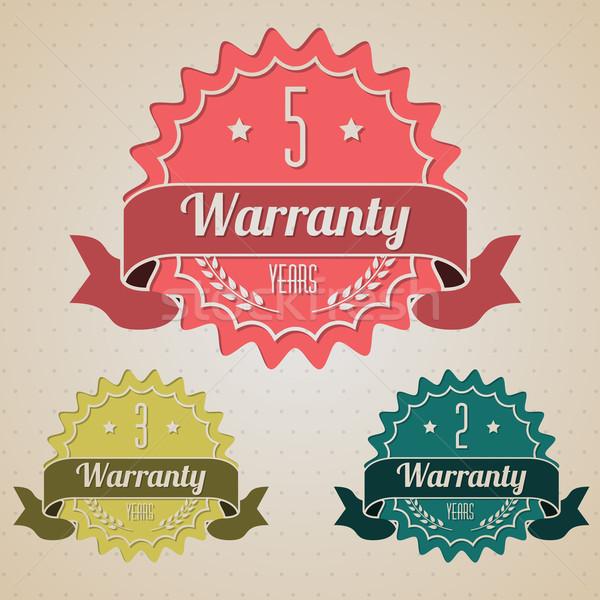 Garantia ícones três negócio Foto stock © vipervxw
