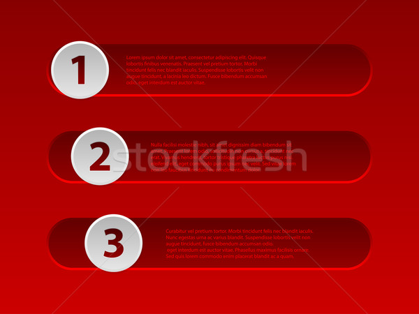 Red infographic design with options Stock photo © vipervxw
