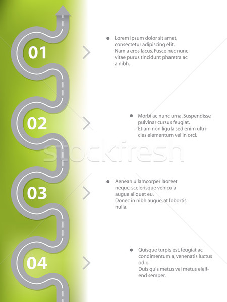 Infographic design with curvy road Stock photo © vipervxw