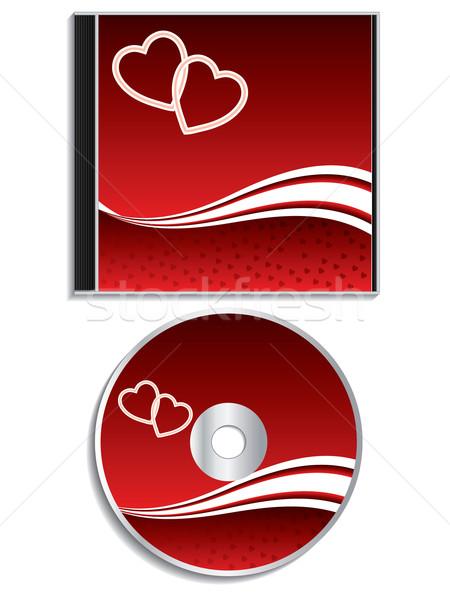 San Valentín día cd cubrir diseno rojo Foto stock © vipervxw
