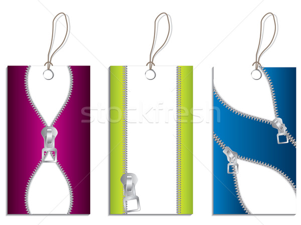 Cool labels with zippers  Stock photo © vipervxw