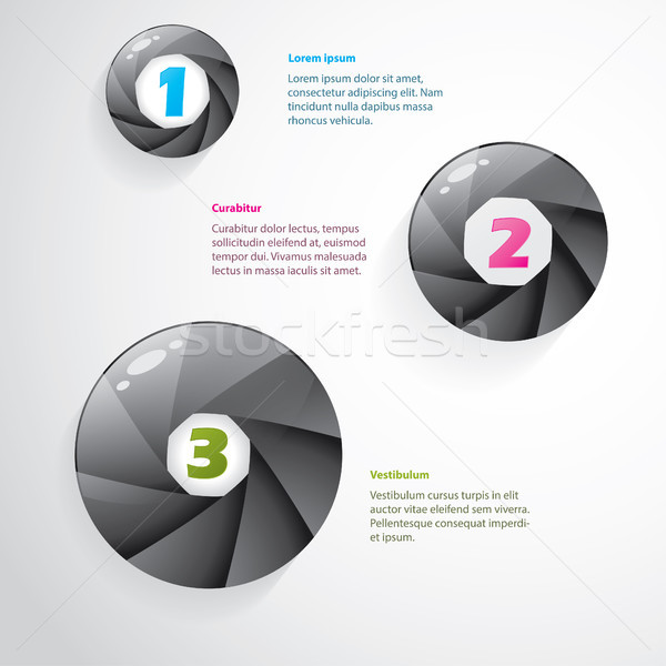 Cool infographic with shutter design Stock photo © vipervxw