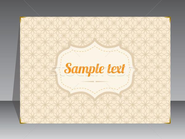 Retro album dekken ontwerp plaats tekst Stockfoto © vipervxw