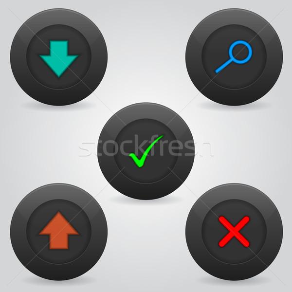 Webボタン セット 5 新しい シンボル ストックフォト © vipervxw