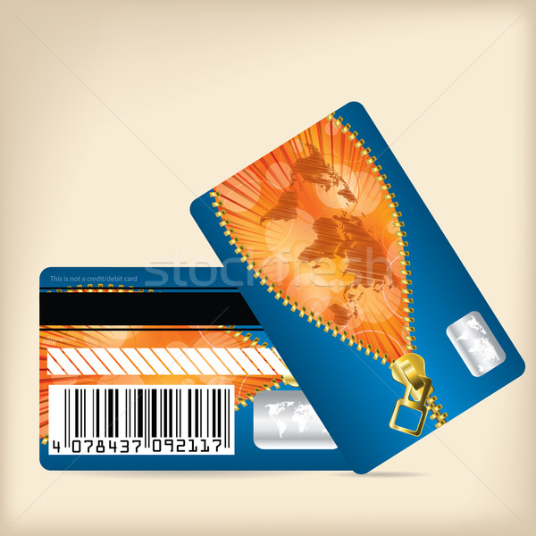Loyalty card design with opening zipper Stock photo © vipervxw