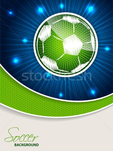 Absztrakt kék zöld futball brosúra sablon Stock fotó © vipervxw