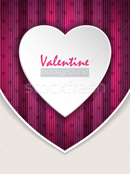 Valentine day greeting with pink background Stock photo © vipervxw