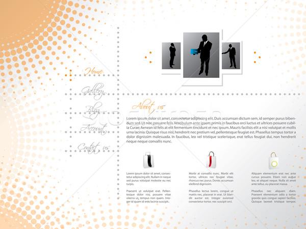 сайт шаблон дизайна профессиональных новых торговых Сток-фото © vipervxw