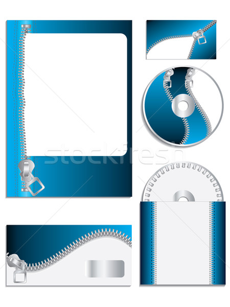 Zippered company vector set  Stock photo © vipervxw