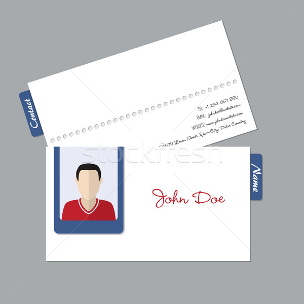 Simple business id card with photo Stock photo © vipervxw