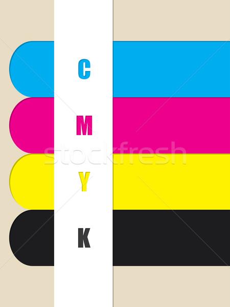 Abstract cmyk color ribbons Stock photo © vipervxw