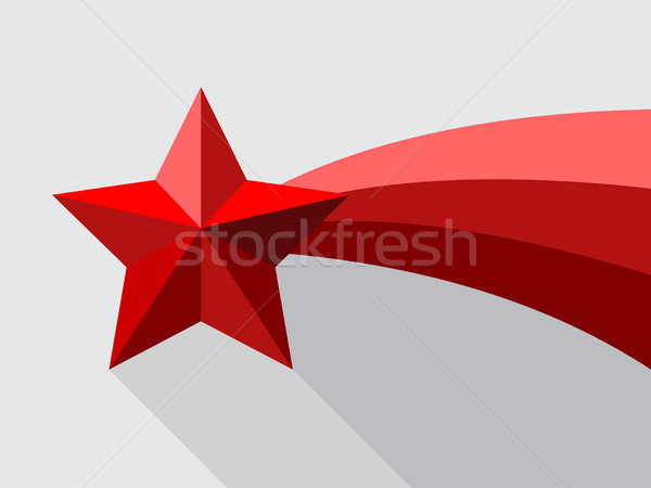 Red shooting star with swoosh Stock photo © vipervxw