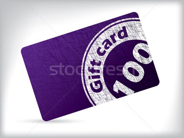 Grunge gift card ontwerp zegel witte papier Stockfoto © vipervxw