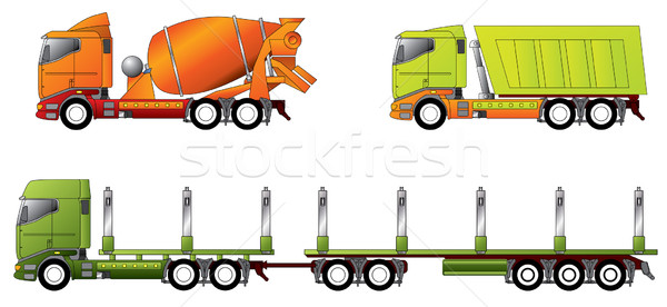 Construction and timber truck  Stock photo © vipervxw