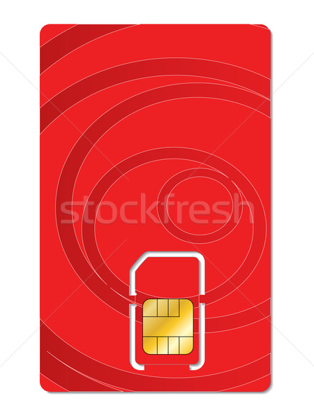 Abstract red sim card design  Stock photo © vipervxw