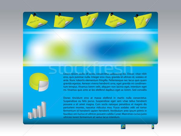 Cool blu progettazione di siti web modello business sfondo Foto d'archivio © vipervxw