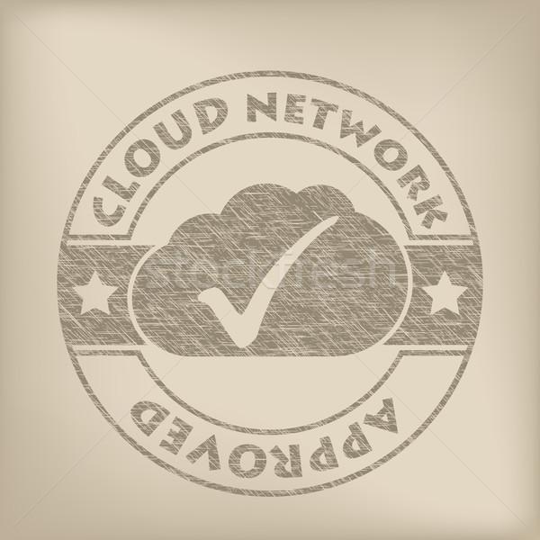 Felhő hálózat elismert grunge fóka fény üzlet Stock fotó © vipervxw