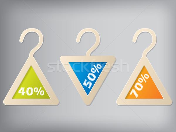 Cloth hanger style label set of 3 Stock photo © vipervxw