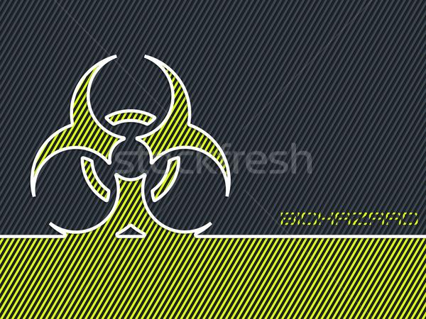 Green bio hazard warning background Stock photo © vipervxw