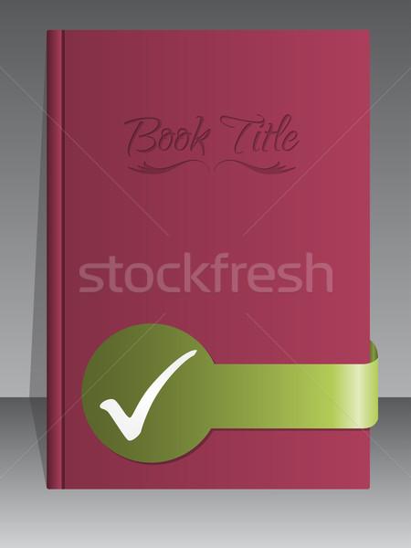 Simplistic book cover design with check mark Stock photo © vipervxw