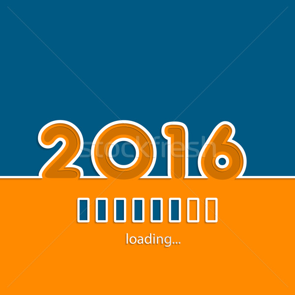 New year 2016 loading background  Stock photo © vipervxw