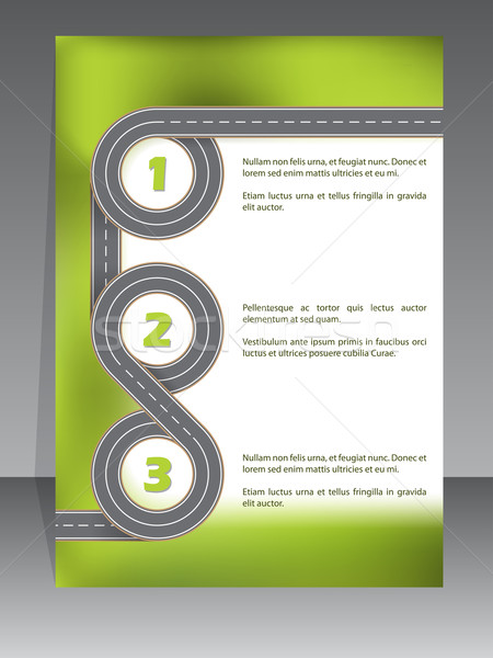 Infographic template with two lane road Stock photo © vipervxw