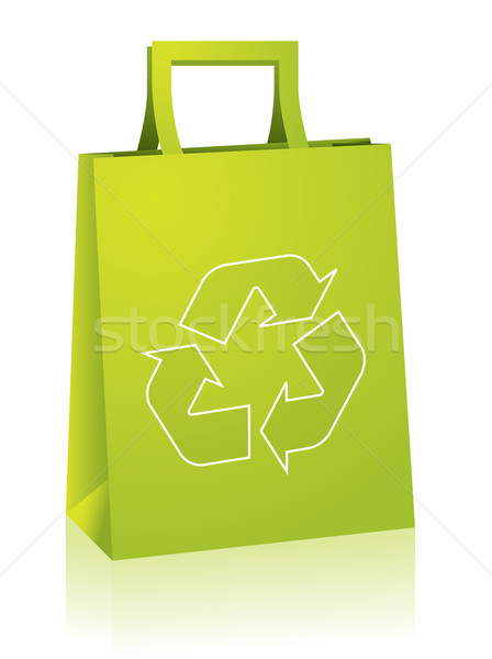 Shopping paperbag with recycle sign Stock photo © vipervxw