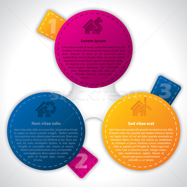 Infographic design with graded color labels Stock photo © vipervxw