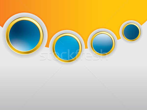 Cool glossy buttons with shadows on background  Stock photo © vipervxw
