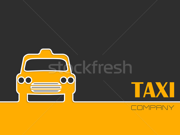 Taxi company advertising with taxi cab Stock photo © vipervxw