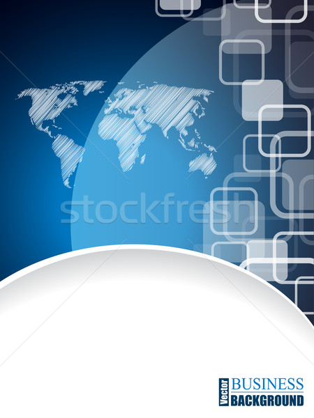 Modern business brochure with scribbled world map Stock photo © vipervxw