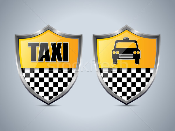 Taxi shield badge design set Stock photo © vipervxw