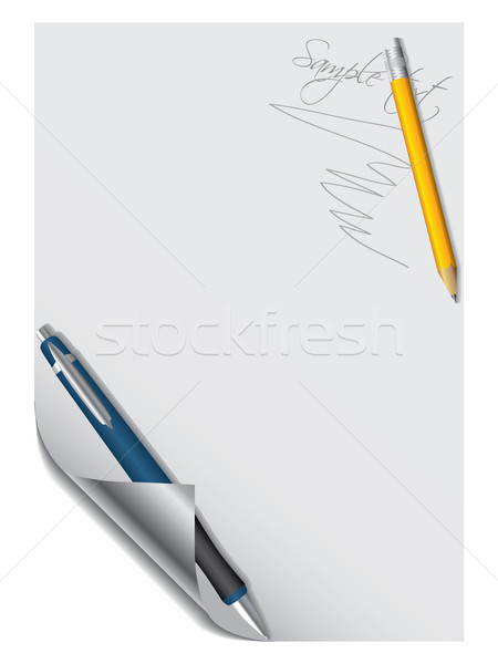 Pen and pencil with paper Stock photo © vipervxw