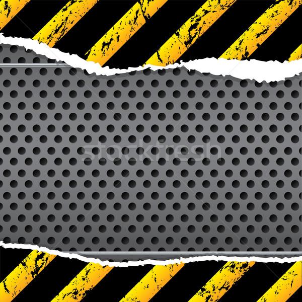Ipari terv szakadt papír csíkos keret ipar Stock fotó © vipervxw