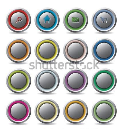 Brillante botones oculto diferente colores azul Foto stock © vipervxw